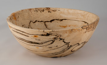 "Photo: Stan Wellborn 9"" x 4"" bowl [spalted maple?]"