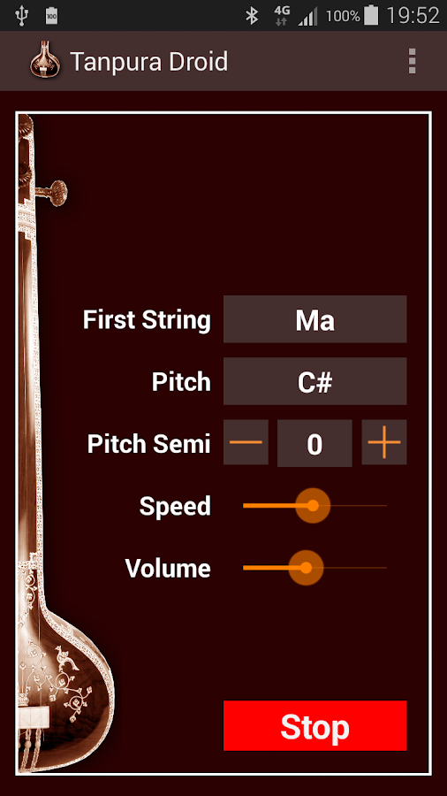 Tanpura Droid- screenshot
