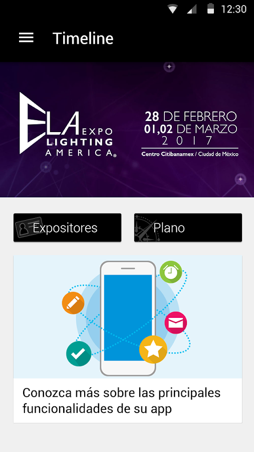 Expo Lighting America: captura de pantalla