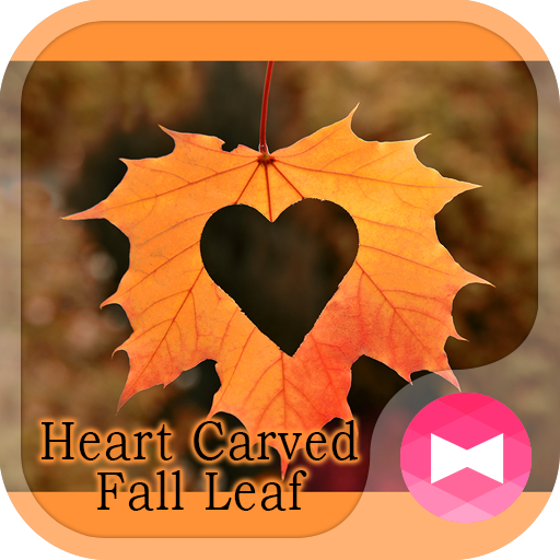 Romantic Wallpaper Heart Carved Fall Leaf Theme Icon