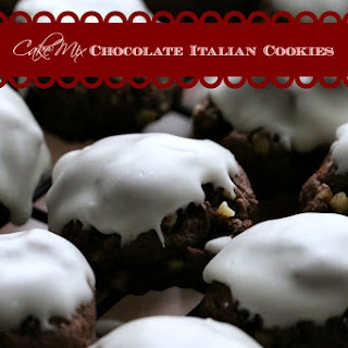 Cake Mix Italian Chocolate Cookies.
