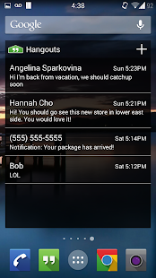 Hangouts Widget Screenshot