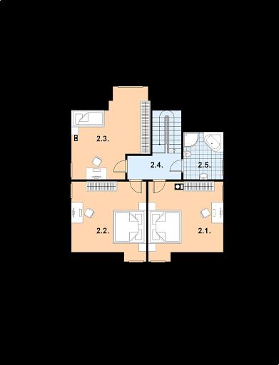 A-109 z bali - Rzut piętra