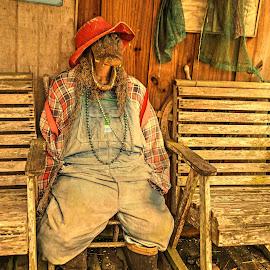 Cajun Village by Ron Olivier - Digital Art Places ( cajun village )