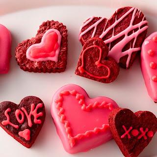 Red Velvet Brownie Conversation Hearts