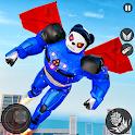 Flying Panda Robot Hero: Police Robot Attack icon