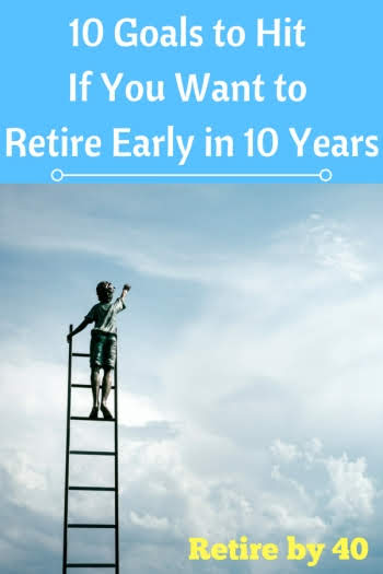 10 goals to hit if you want to retire early in 10 years