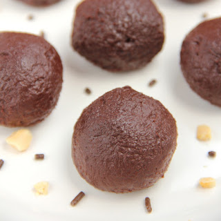 Dark Chocolate Peanut Butter Truffles