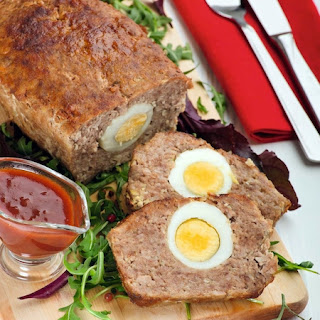 Meatloaf with Eggs Baked in Foil