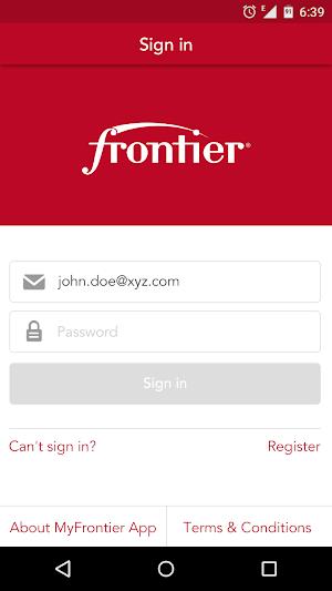 16 MyFrontier App screenshot