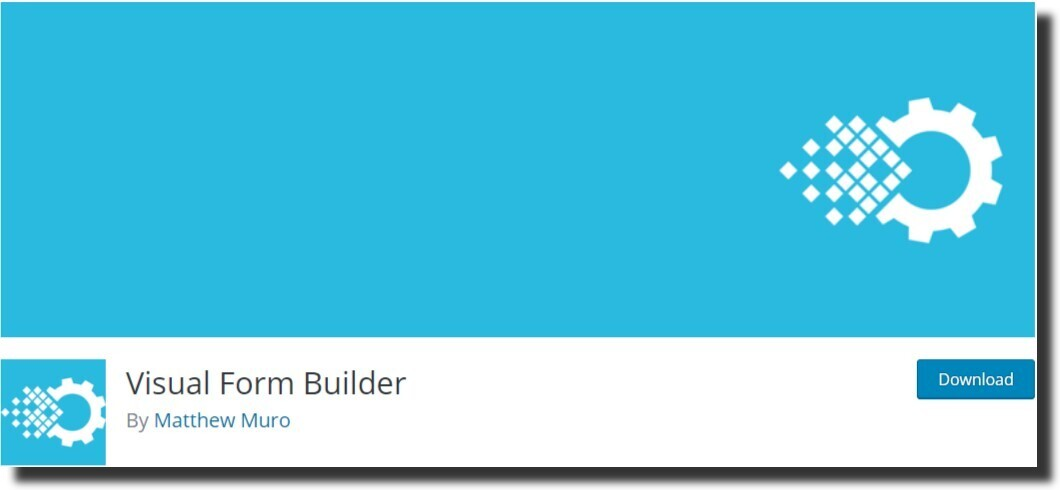 Visual Form Builder plugin best free wordpress plugins
