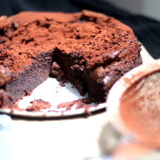 Chocolate Mousse Baked Like a Cake.