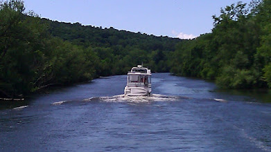 Photo: A canal portion of the Erie Canal. Thats Jim-O