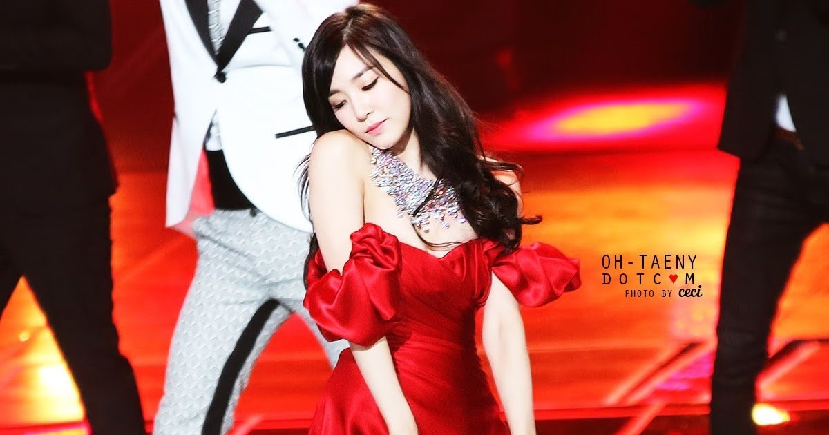 Girls generation sexy pics Girls Generation Tiffany Stuns Fans With Sexy Red Dress At Performance Koreaboo