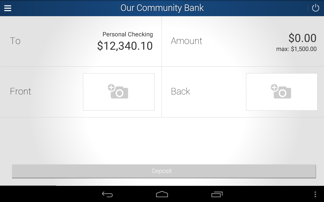 Our Community Bank- screenshot