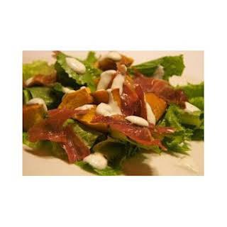 Prosciutto, Green Bean and Pumpkin Salad.