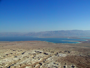 Photo: Looking towards the Dead Sea from the summit