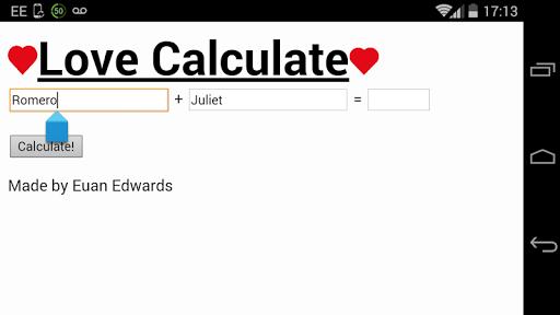 intimacy calculator