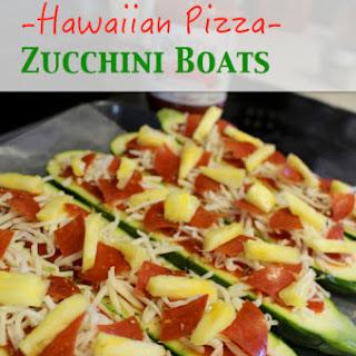 {Hawaiian Pizza} Zucchini Boats