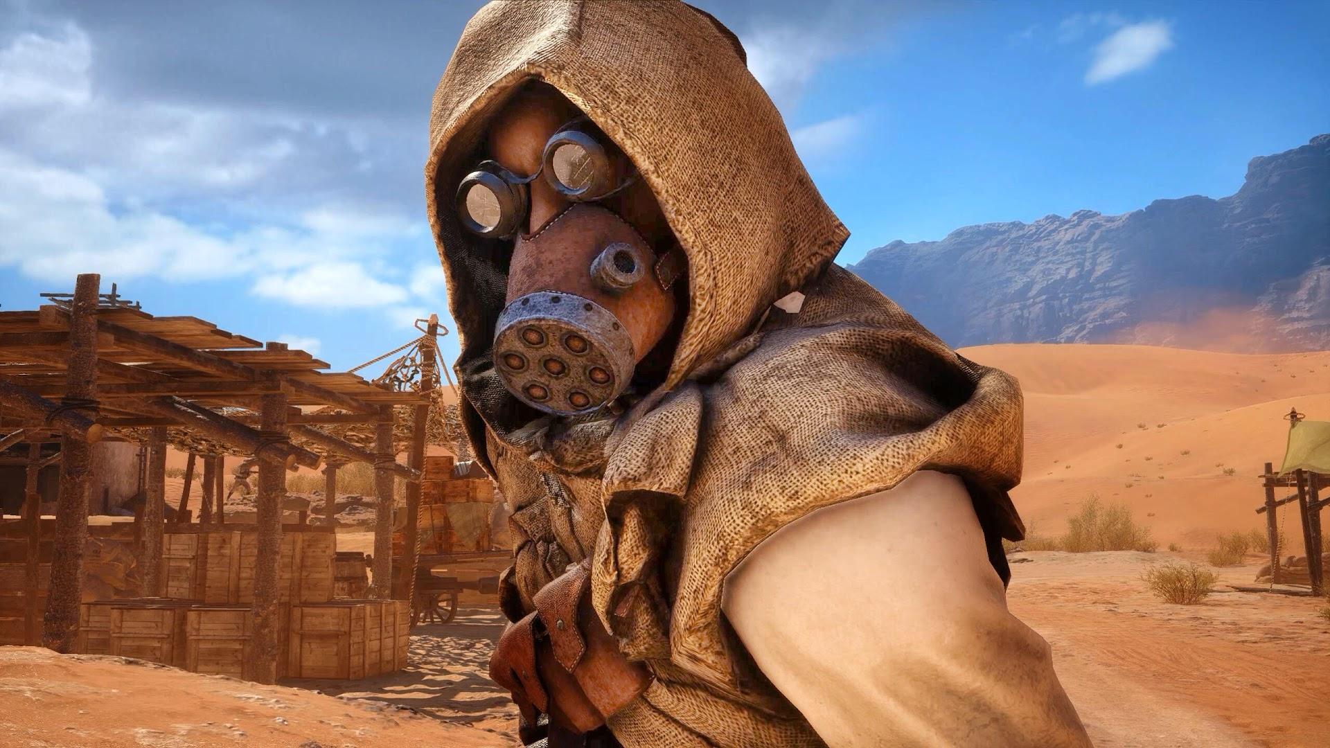 Продолжение игр с конусами или Маска Tank Hunter из Battlefield 1