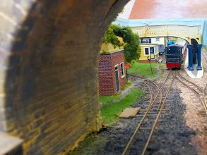 Photo: 018 Looking through the standard gauge overbridge to get a track level glimpse of the approach to Elmgate Station .