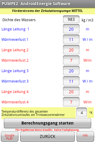 android Warmwasser Zirkulation Screenshot 2