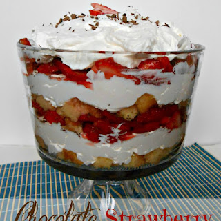 Chocolate Strawberry Cheesecake Trifle