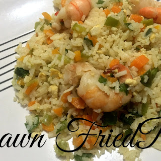 Restaurant Style Prawn Fried Rice.