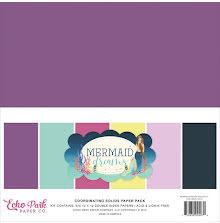 Echo Park Double-Sided Solid Cardstock 12X12 6/Pkg - Mermaid Dreams UTGÅENDE