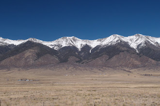 Photo: The Sangre de Cristos and the N end of the San Luis Valley. It was a crystal clear day.