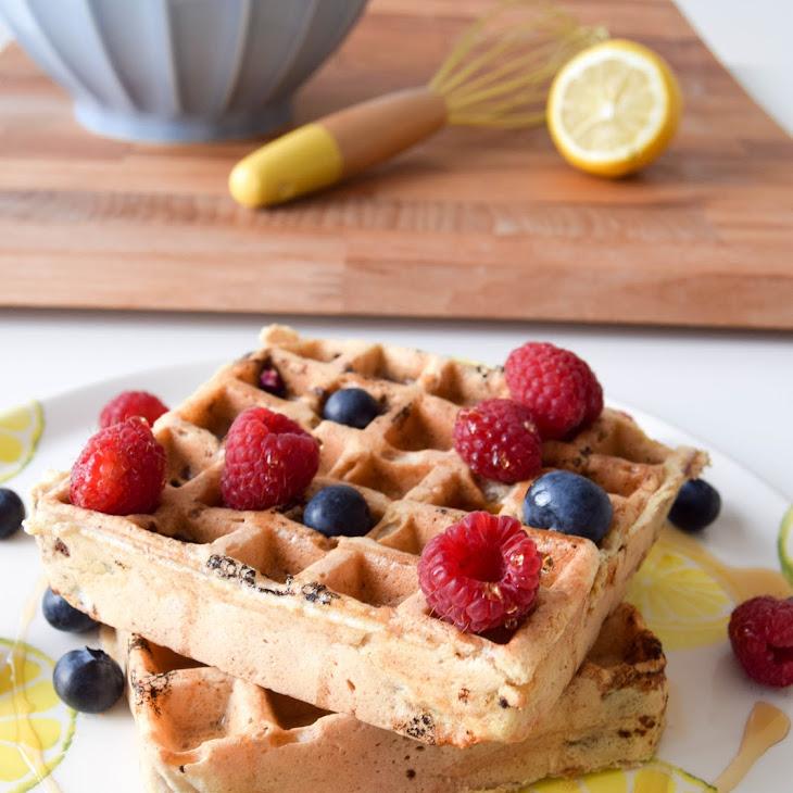 Blueberry & Lemon Wholemeal Waffles Recipe