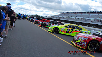 Photo: 43 cars all lined up for the Sunday race.  Not a one of them will look this good by race end.