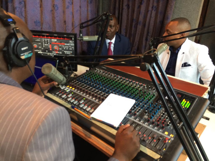 Deputy President William Ruto during an interview at Kameme FM studios on Thursday, May 23, 2019.