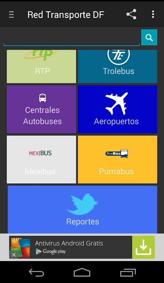 Red Transporte DF- screenshot
