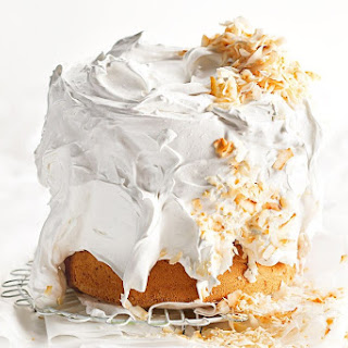 Coconut Chiffon Cake with Meringue Icing Recipe