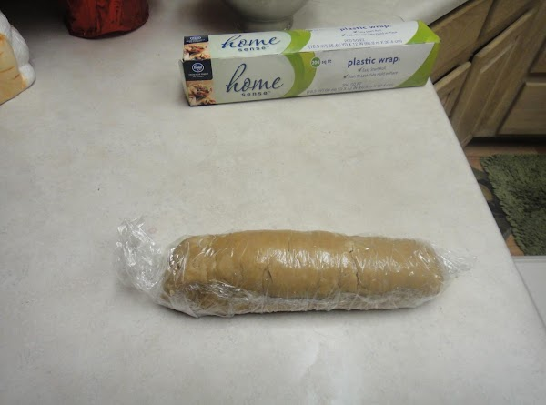 Rolled up ready for the freezer.