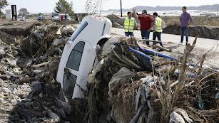 Los daños del último temporal son cuantiosos en la provincia.