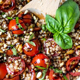 Tomato Basil Pearl Couscous Salad.