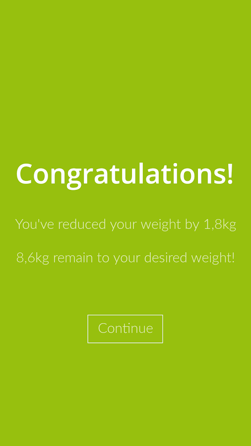 Weight Loss Tracker, BMI- screenshot