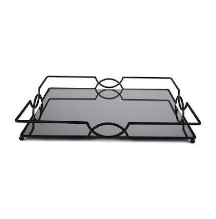 Deko-bricka Grand matt svart 45x35x6 cm