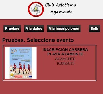 Club Atletismo Ayamonte Socios- screenshot thumbnail