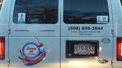 Photo: Jose M. Painting in Hudson, MA proudly displaying their BBB Accreditation
