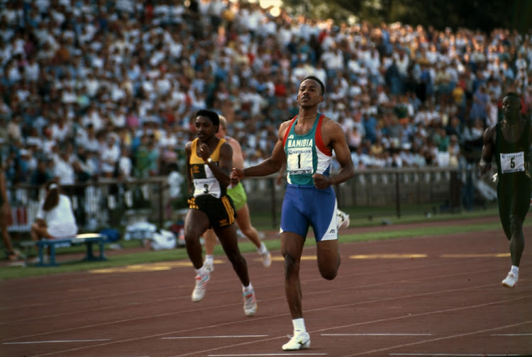 Frankie Fredericks of Namibia, athletics, during a sports event in South Africa. File photo.