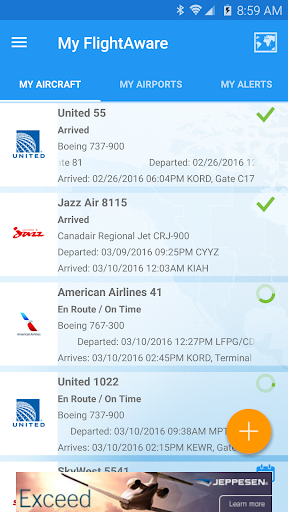 FlightAware Flight Tracker 5.5.1 screenshots 2