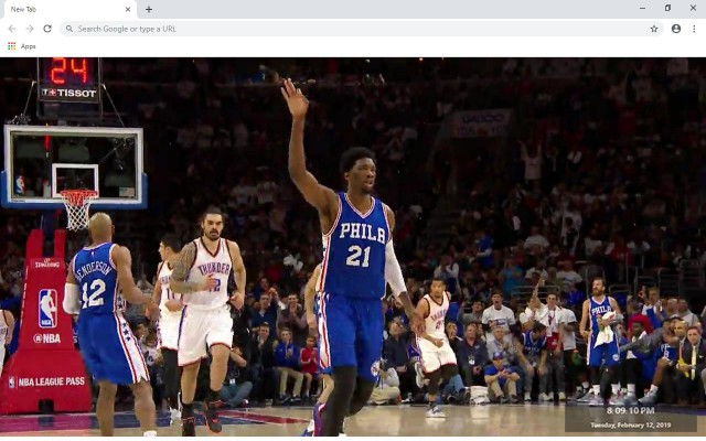 Joel Embiid NBA New Tab