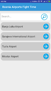 Bosnia Airports Flight Time - náhled