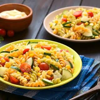 Tri-Color Rotini Pasta Salad.