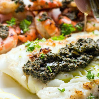 Sea Bass and Shrimp Surf 'N Surf Recipe