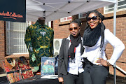 Tsitsi Chakomoka and Precious  Masondo from Presidential, a clothing company that produced the famous Nelson Mandela shirts, at the Wanderers Stadium in Illovo for the 16th Nelson Mandela Annual Lecture on July 16 2018.