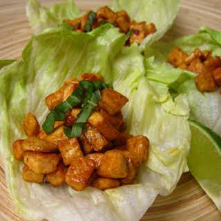 Thai Tofu Lettuce Wraps.